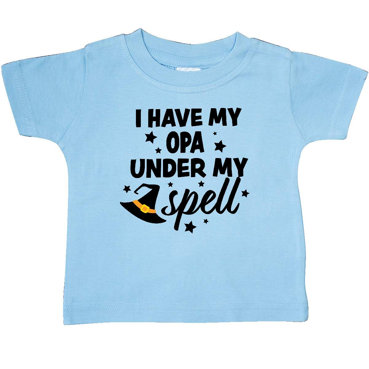 inktastic I Have My Opa Under My Spell with Cute Witch Hat Baby T-Shirt