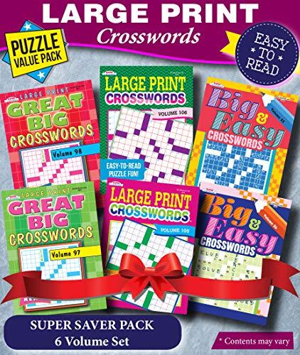 KAPPA Super Saver LARGE PRINT Crosswords Puzzle Pack-Set of 6 Full Size Books Paperback – September 8, 2020