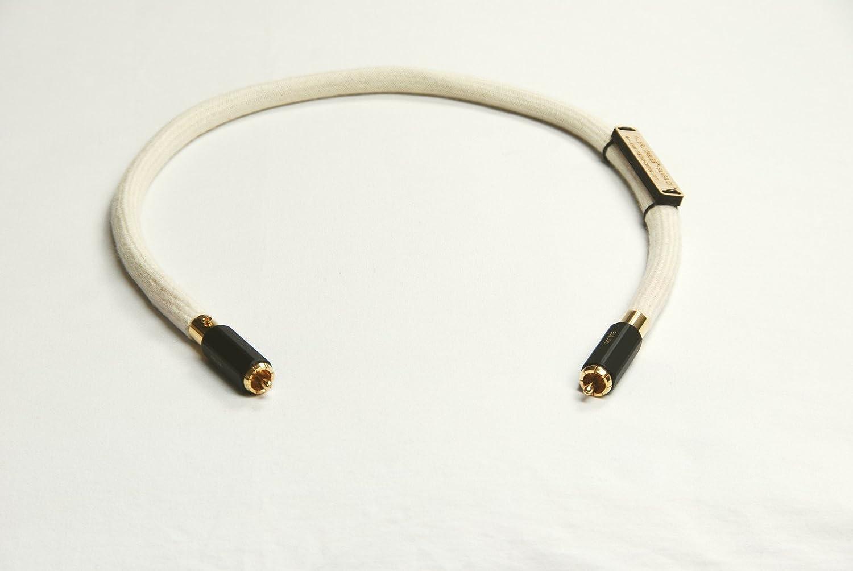 Coaxial Cable de Audio mediante cables Malbru. Plata pura referencia Digital de Audio totalmente hecho a mano. Coaxial Cable de Audio de gama alta probada, ...