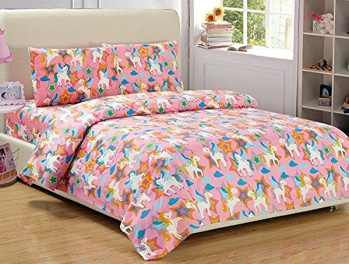Fancy Collection 3pc Twin Sheet Set Unicorn Pink