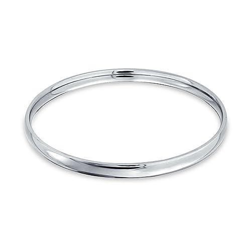 Amazon.com: Bling Jewelry – Pulsera acero Comfort Fit Dome ...