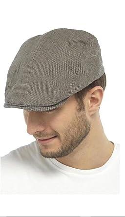 22f36e9649a Tom Franks Mens Check Flat Cap Summer Fashion Hat 100% Cotton   Amazon.co.uk  Clothing