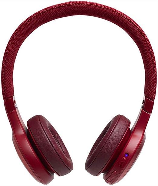 JBL LIVE 400BT - Auriculares Inalámbricos con Bluetooth, Asistente de voz integrado, Calidad de Sonido JBL y función TalkThru y AmbientAware, Hasta 30h de música, Color Rojo, con Alexa integrada
