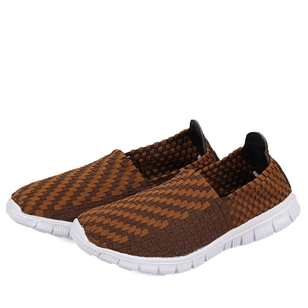 YMY Women's Woven Sneakers Casual Lightweight Sneakers - Breathable Running Shoes B07DXRGS4N EU42/US Men8.5 Women11(10.43In)|Brown