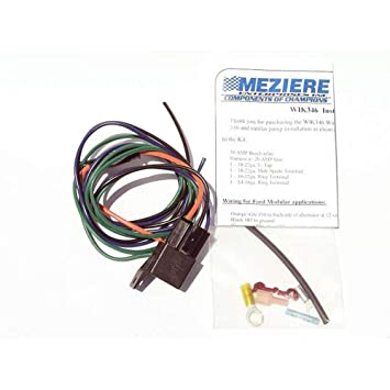 meziere wik346 wiring installation kit for standard electric water pumps  wiring electric water pump #13
