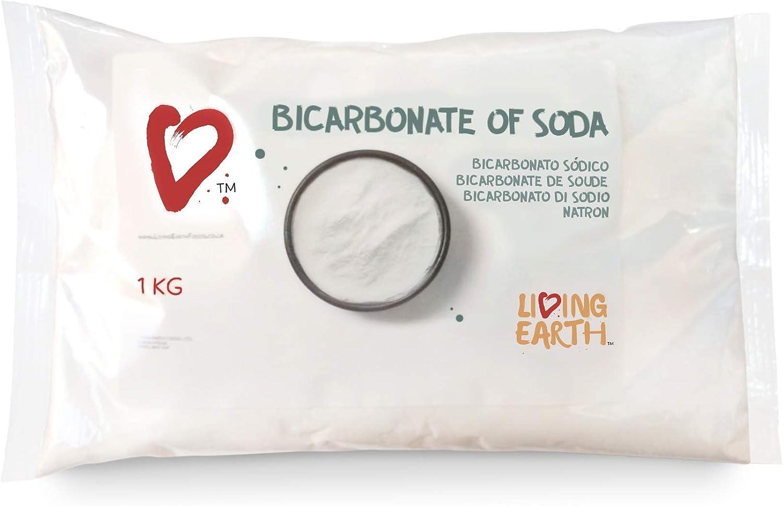 1 KG Bolsa, Living Earth Bicarbonato de Sodio: Amazon.es: Hogar
