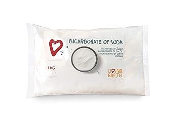 1KG Bolsa - Bicarbonato de Sodio - Living Earth   Excelente Alternativa para la Limpieza del hogar y Cuidado Personal. Limpieza ECOLÓGICA, Libre DE TÓXICOS ...