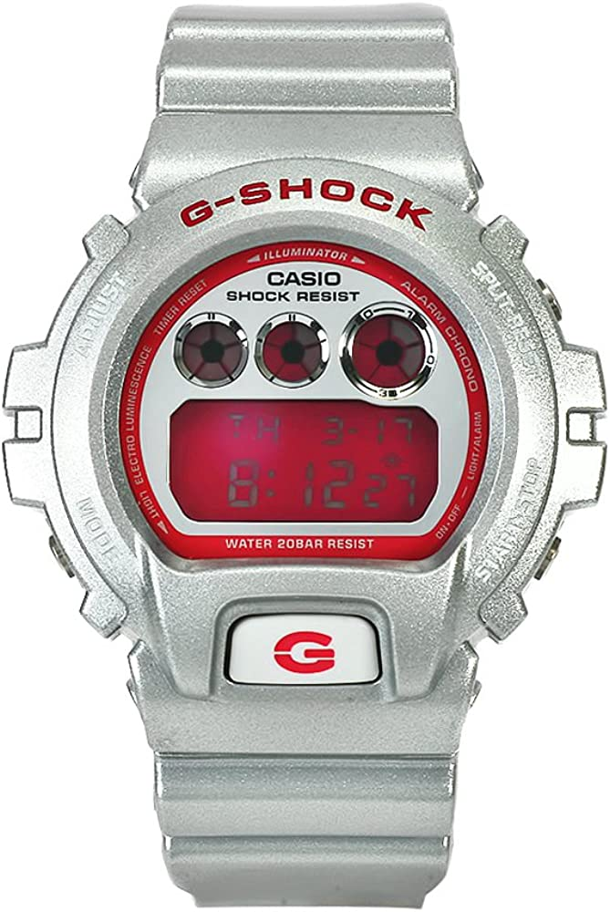 Casio Men s DW6900CB-8 G-Shock Pink Digital Dial Chronograph Watch