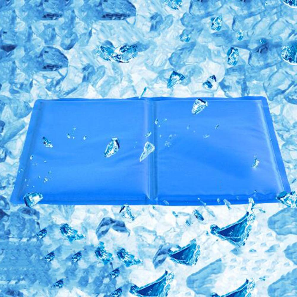 bluee 4049.5cmPet Ice Pad Sleeping Cool Pad Cold Gel Ice Pad Dog Ice Pad Summer Pet Cooling Mat Cat and Dog Kennel Supplies,bluee40  49.5cm