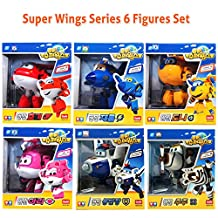 Super Wings Toys Transforming Plane Series HOGI DONNIE JEROME ARI BJ BONG ZUZU 6-Figures Set - Korean TV Animation Cartoon Movies - Ship from Korea.