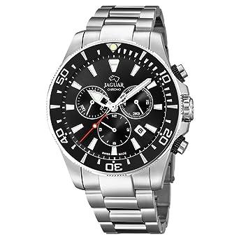 Reloj Jaguar caballero crono Executive acero esfera negra: Amazon.es: Relojes