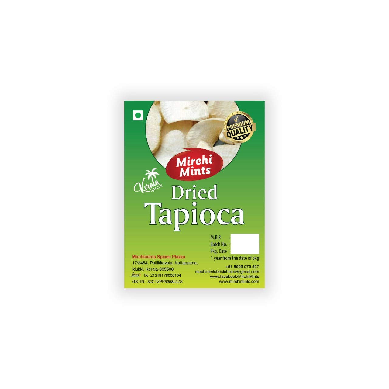 Mirchimints Dried Kerala Tapioca