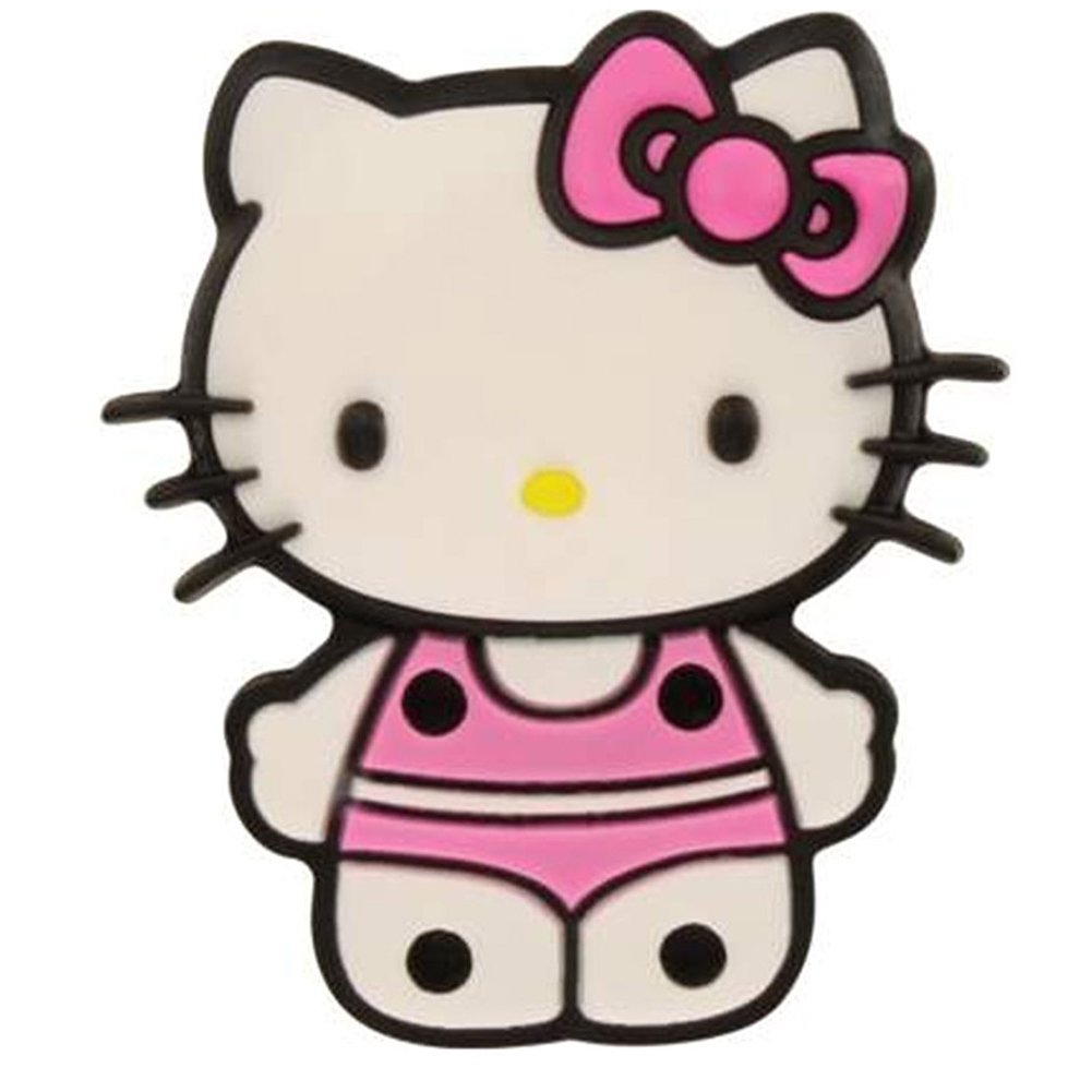 Jibbitz Kid's Hello Kitty Dress Up Shoe Charms,Pink,One Size