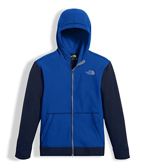 The North Face Boy's Glacier Full Zip Hoodie - Bright Cobalt Blue - S (Past