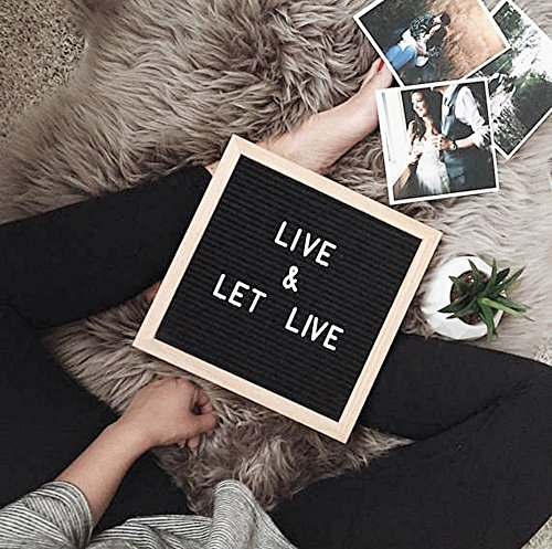 felt letter board 10x10 inches black felt board with 340 white and 170 golden letters. Black Bedroom Furniture Sets. Home Design Ideas