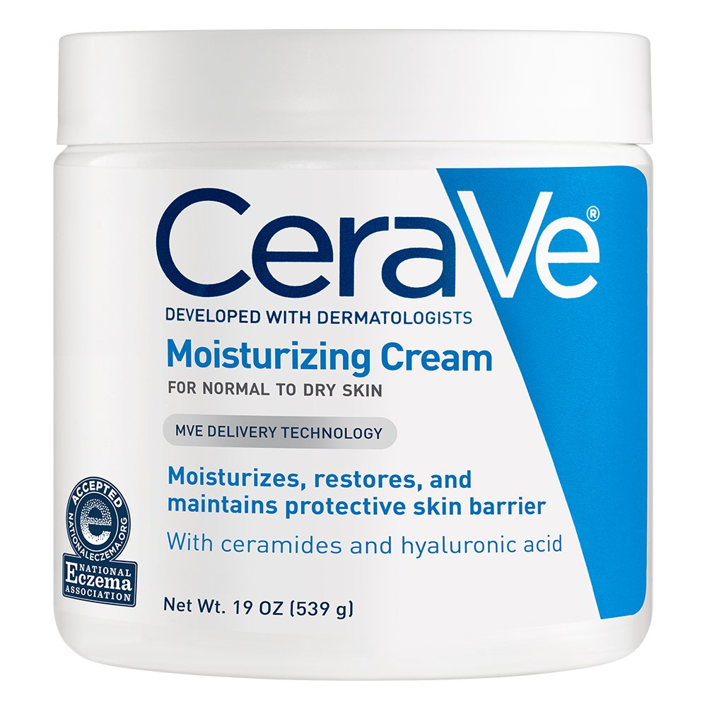 CeraVe Moisturizing Cream, Daily Face and Body Moisturizer for Dry Skin
