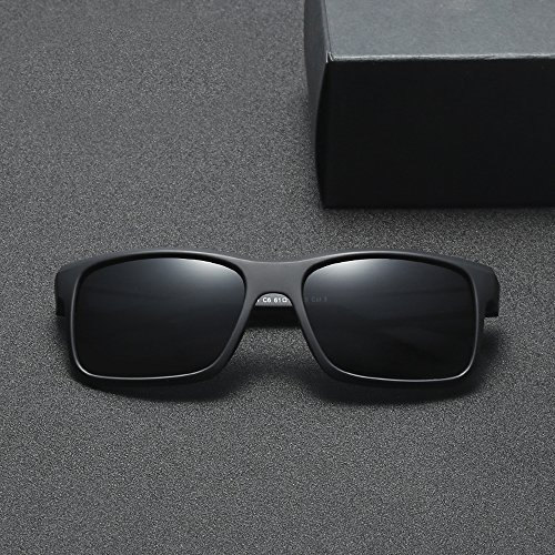 Negro Polarizadas Cuadrado De Gafas Opaco Sol Uv400 TIANLIANG04 Hombres 4qTAxRwxn