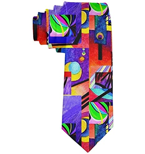 Púrpura formal Kandinsky Collage Hombres Traje casual Corbata de ...