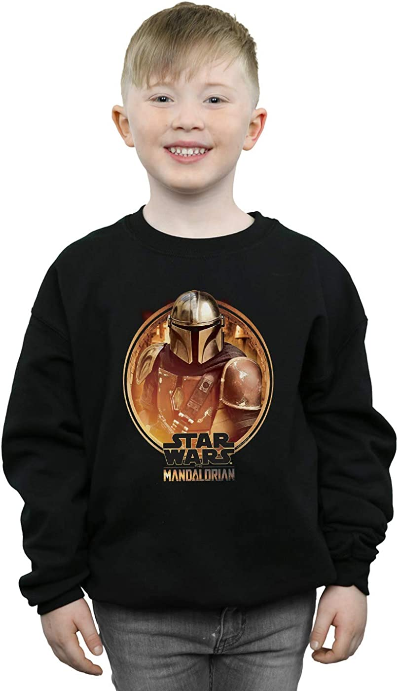 Star Wars Boys The Mandalorian Framed Sweatshirt