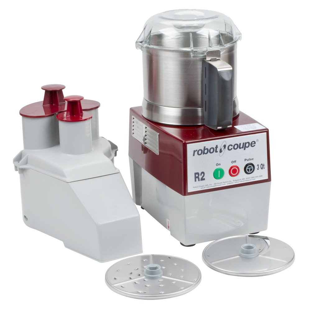 Robot Coupe R 2 N Ultra Continuous Feed Combination Food Processor with 3 qt. Stainless Steel Bowl - 120V