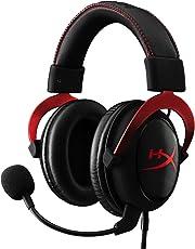 HyperX Cloud II - Auriculares gaming de diadema cerrados con micrófono (para PC/PS4/Mac), color rojo