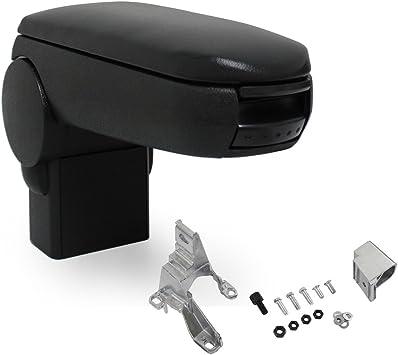 A1 nero colore Bracciolo centrale universale in similpelle con vano portaoggetti