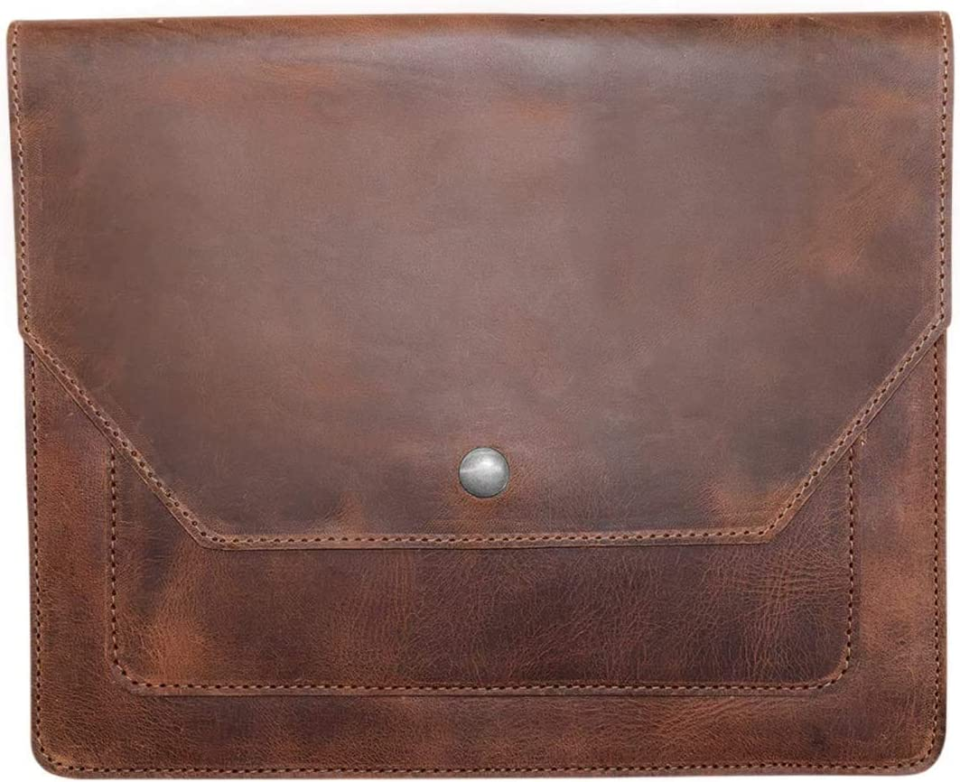 Hide & Drink, Leather Slim Portfolio / Tablet Case / Notebook Holder / Office & School Accessories, Handmade Includes 101 Year Warranty :: Bourbon Brown