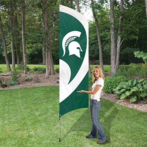 Michigan College Applique - Party Animal NCAA Michigan State Spartans College Tailgating Flag Kit