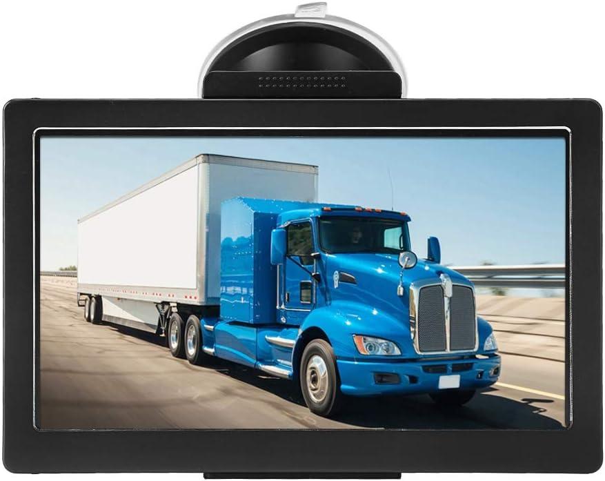 Navegador GPS, Mapas gratuitos GPS para coche Bluetooth para camiones y Coches, Navegador GPS Bluetooth multimedia, pantalla táctil capacitiva de alta gama para automóviles, camiones y peatones