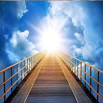 Foto Murales Escalera al cielo Papel pintado decorativo sin tejer no tejido para sala de estar Dormitorio Restaurante 250cm(W) x175cm(H)-5 Stripes: Amazon.es: Bricolaje y herramientas