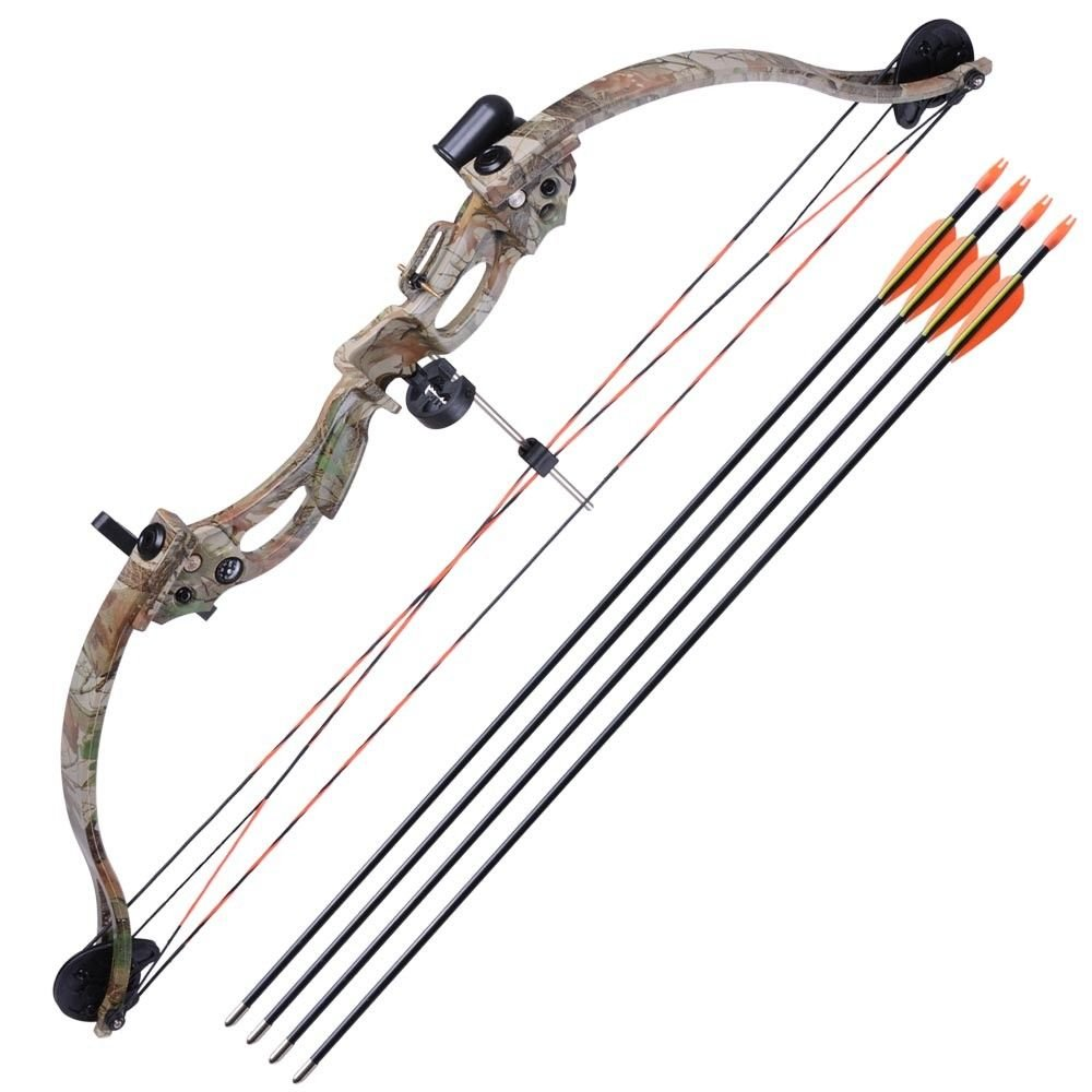 Alek...Shop Compound Bow Kit 34'' Youth Camouflage Arrow Set Junior Archery 20lbs Target 28'' Practice Game & Hunting