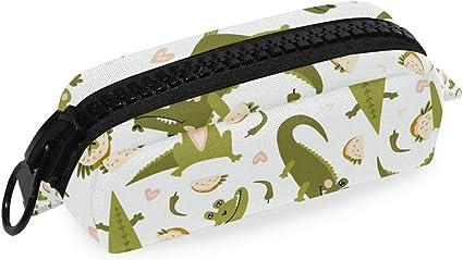 Estuche con diseño de cocodrilo de dibujos animados: Amazon.es: Oficina y papelería