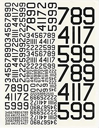 Amazoncom Combat Models Black Numbers Multiple - Decal numbers lettersusaf modern stencil lettersnumbers whitedecal