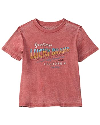 Lucky Boys Brand Graphic T-Shirt, M, Red