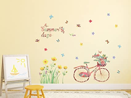 Amazon Brand - Solimo Wall Sticker for Home (Summer Daze, Ideal Size on Wall, 120 cm X 75 cm)