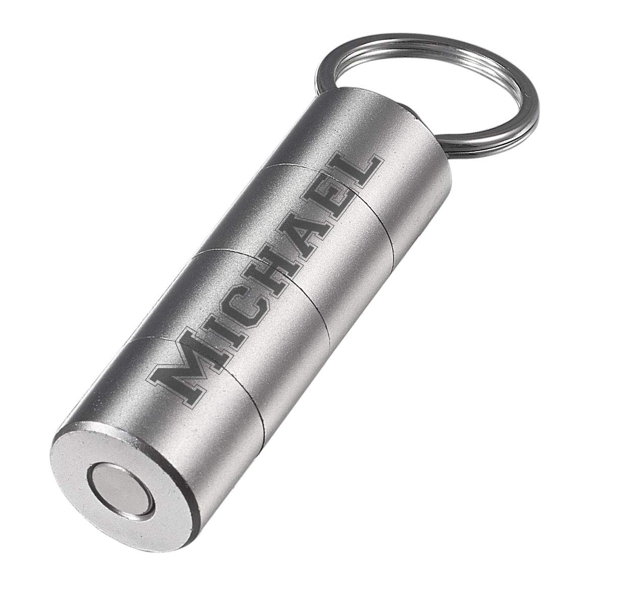 Personalized Visol Torpedo Three Cut Cigar Punch - Silver with Free Engraving