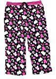 Disney Mickey Mouse Womens Pajama Pant With Silhouette Print - Pink Black