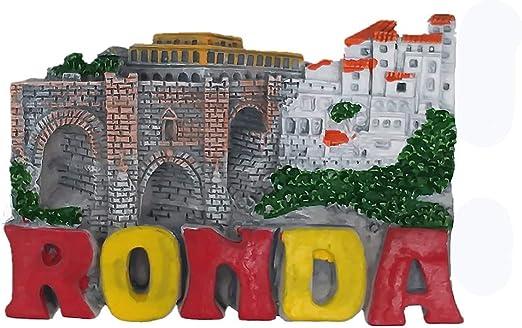 Imán 3D para nevera Ronda Town Málaga España, regalo de recuerdo de viaje, decoración del hogar y la cocina, adhesivo magnético Ronda Town Málaga, España, colección de imanes para refrigerador: Amazon.es: Hogar