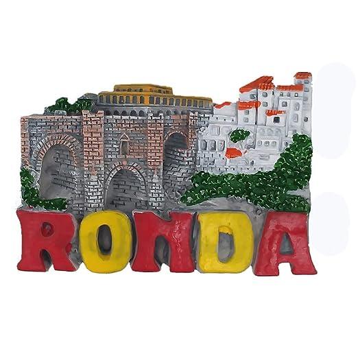 MUYU Magnet Ronda Town Málaga España 3D imán de Nevera de Viaje ...