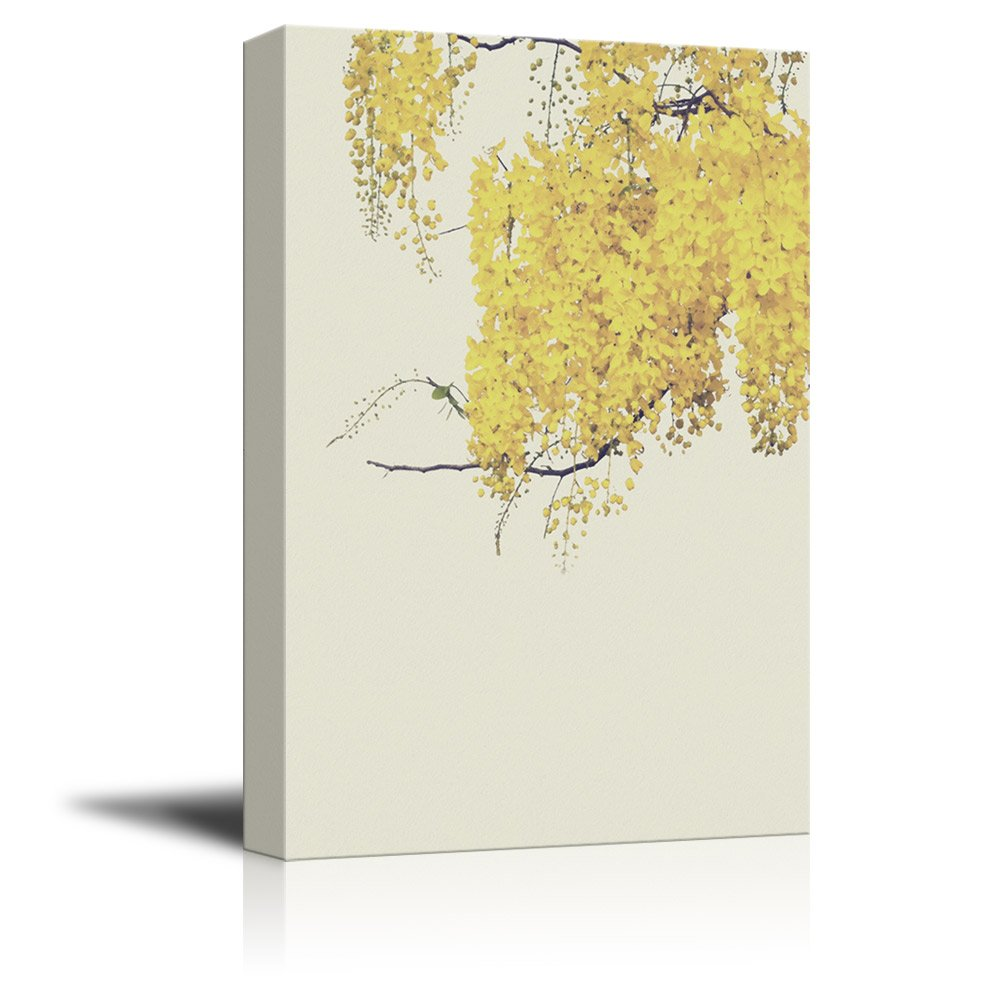 wall26 Canvas Wall Art - Small Yellow Leaves on Branch - Giclee ...