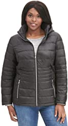 0c45016f41f Black Rivet Womens Plus Size Quilted Body Puffer Jacket W Hood