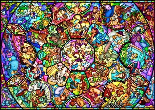 Tenyo Disney All Characters Stained Glass Jigsaw Puzzle
