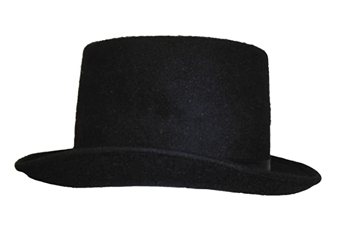 Amazon.com  Jacobsen Hat Deluxe Felt Low Crown Top Hat  Clothing 7ba869e2480