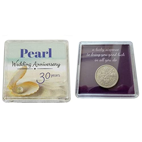 Lucky Sixpence Coin For A Pearl 30th Wedding Anniversary