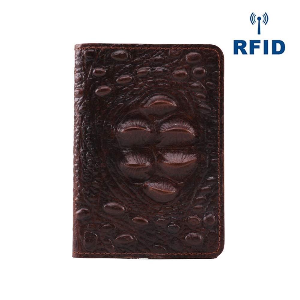 Mini Wallet Color : A, Size : 14CM10CM0.5CM RFID Card Holder Card Holder Vintage Leather Passport Bag Ticket Holder