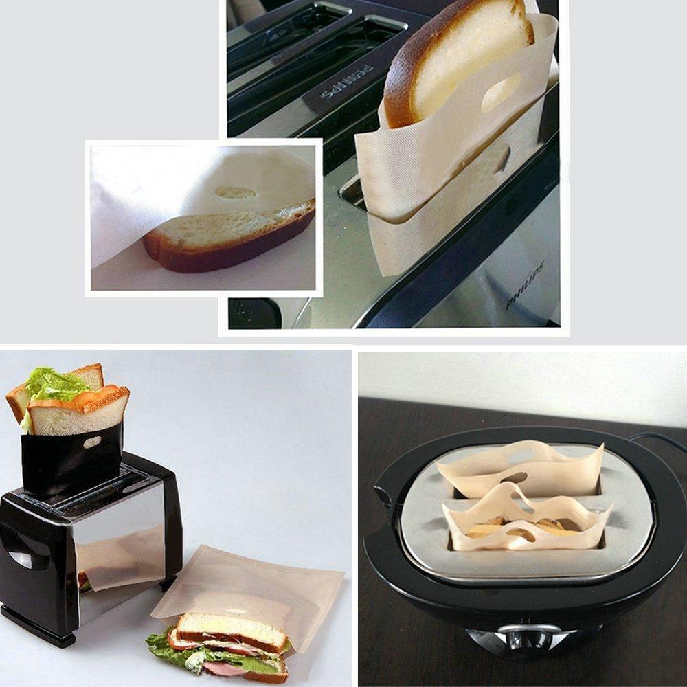 Antiadherente y reutilizable tostadora bolsas (Juego de 6 ...