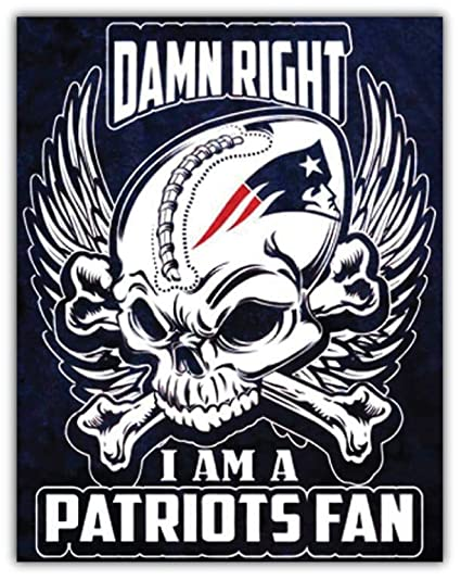 5208b8b147d Image Unavailable. Image not available for. Color  England Patriots NFL  Skull Fan Car Bumper Sticker ...