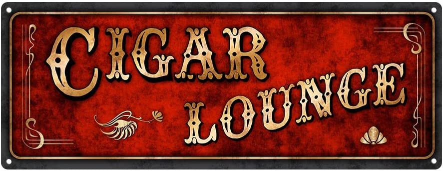 Amazon.com: Rojo Cigar Lounge Metal Sign: Home & Kitchen
