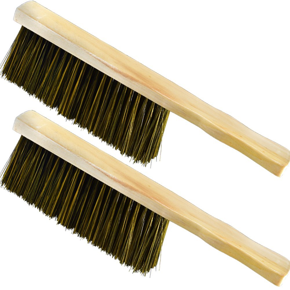 Soft Cleaning Brush -Sheets Bed Sofa Bedspread Carpet Cleaning Brush Wood Handle Hotel Family Clothes Dust Hair Sofa Brush Wooden Large for Home Office and Car Set of 2