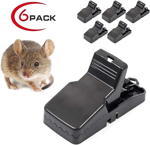 Mouse Trap Rat Mice Rodent Killer Snap Traps Mouse Catcher Reusable Pack Of 6
